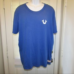 VTG True Religion XXXL Blue White T Shirt